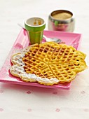 Passion fruit waffles