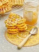 Lemon and sour cream waffles