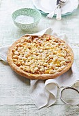 Apple cake with coconut crumbles