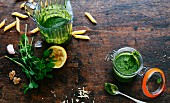 Homemade parsley pesto