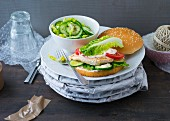 Chicken burger with chilli mayonnaise