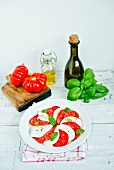 Caprese with ingredients