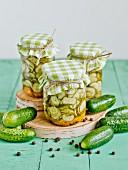 Pickled cucumber slices