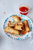 Spring rolls with a sweet-and-sour sauce