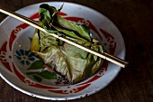 Mok pla (herb fish in a banana leaf, Laos)