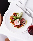 Lamb roulade with ratatouille