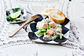 Fish raclette in a cucumber and mustard sauce