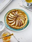 A mini pear tart
