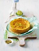 A mini Caipirinha cake