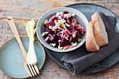 Rote-Bete-Salat als Beilage zum Raclette