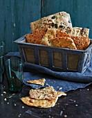 Homemade crispbread