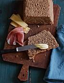 Homemade wholemeal rye bread