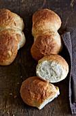 Knauzen (spelt flour rolls, Swabia, Germany)