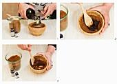 Peeling aus Rohzucker, Olivenöl und ätherischen Ölen herstellen