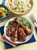 Hoisin chicken with rice and vegetables (China)