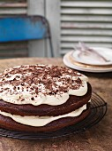 Chocolate cake with cream cheese