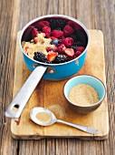 Mixed berries with demerara sugar