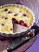 Sour cherry pudding