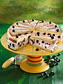 Lavender cream cheese cake