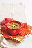 French onion lamb soup
