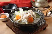 Nabemono (Japanese stew) with fish