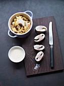 Forellenfilet mit Blumenkohl-Kartoffel-Stampf