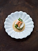 Avocado tartlet with crayfish