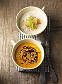 Pumpkin soup and must foam soup