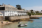 The Idle Rocks Hotel in St. Mawes on the coast of Cornwall