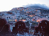 A view over the Medina of Tetouan at dusk, Morocco