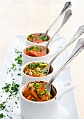 Salmon en cocotte with tomatoes