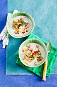 Oriental coconut soup with mushrooms