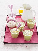 Cold avocado and cucumber soup