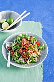 A mixed oriental salad with chilli
