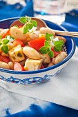 White bean salad with tomatoes and oregano (Italy)