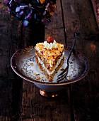 A slice of oriental hazelnut cake