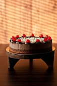 Black Forest Gateau with glace cherries