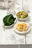 Three vegetable side dishes to go with roast Christmas dinner