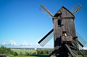 The post windmill of Pudagla on the Lieper Winkel on Usedom