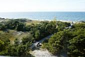 Blick vom Darßer Leuchtturm auf den Ostsee