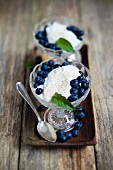 Vanilla quark with blueberries