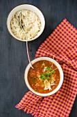Tomato soup with risoni pasta