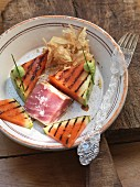 Tuna fish with grilled watermelon