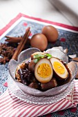 Braised pork and egg with five spice mixture (Thailand)
