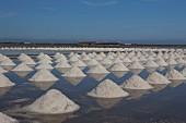 Salt evaporation pond, Thailand