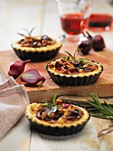 Port wine and onion tarts