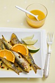 Sardines in a citrus marinade