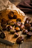 Chestnuts in a paper bag