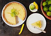 Lime tart (seen from above)