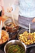 Chicken curry being made